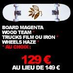 129 € : magenta skateboard pack complet