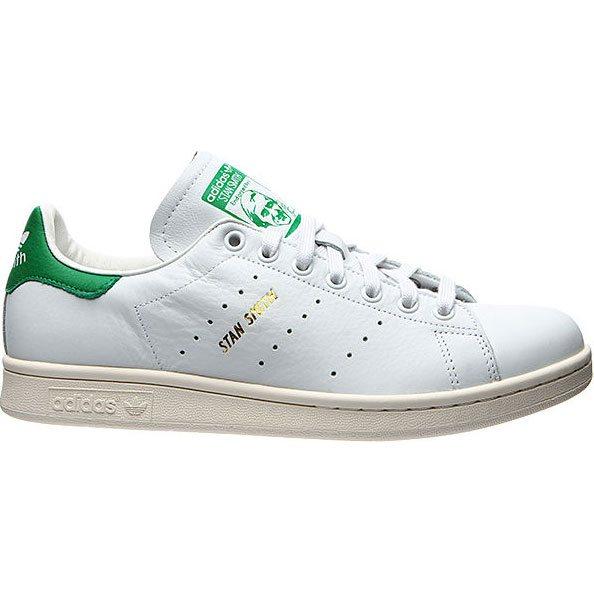 adidas shoes originals stan smith (white/white/green)