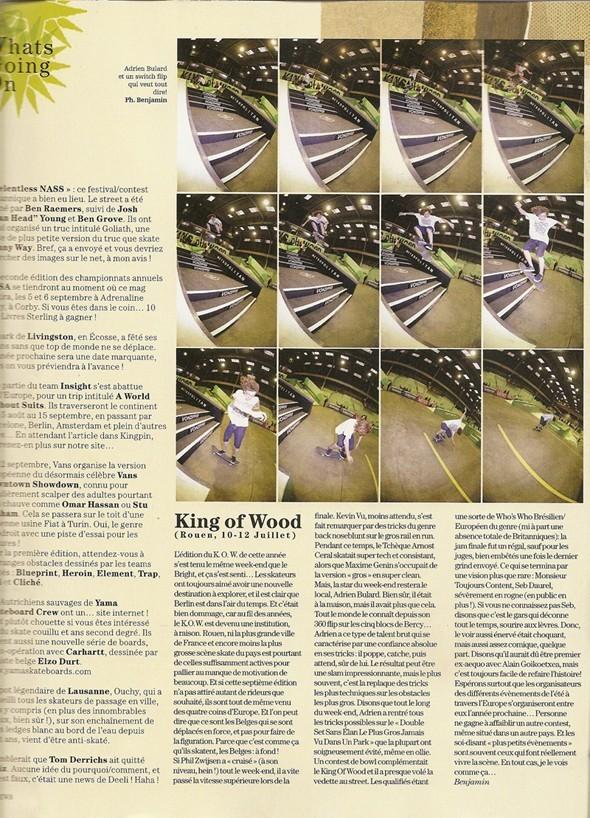 King Of Wood Contest Rouen Parution Kingpin #69 Septembre 2009