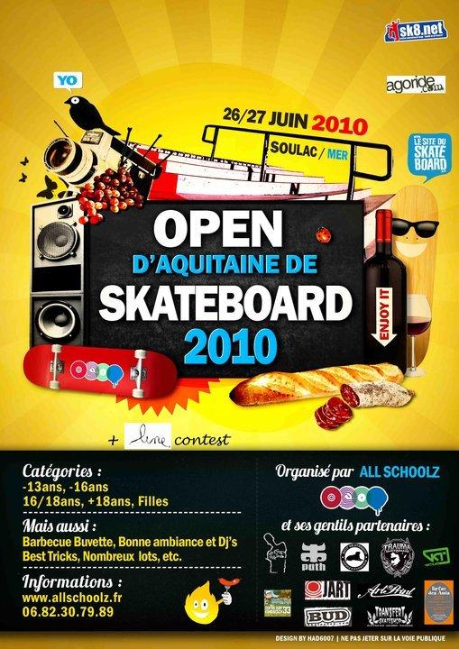 open d'aquitaine de skateboard à soulac-sur-mer 26 et 27 juin 2010