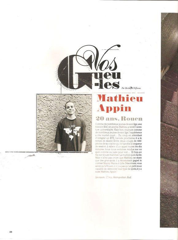 matthieu appin sugar magazine # 118 juillet août 2010