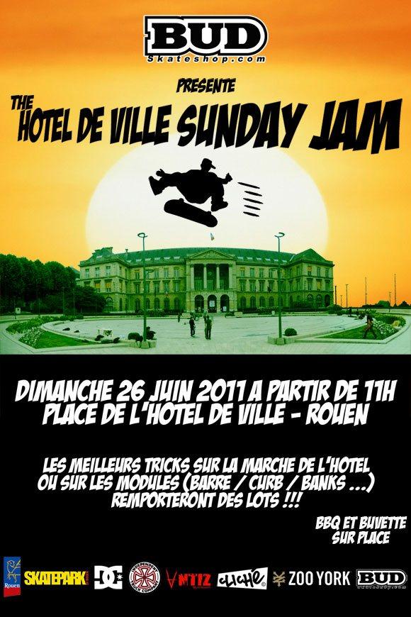 The Hotel De Ville Sunday Jam contest Rouen dimanche 26 juin 2011
