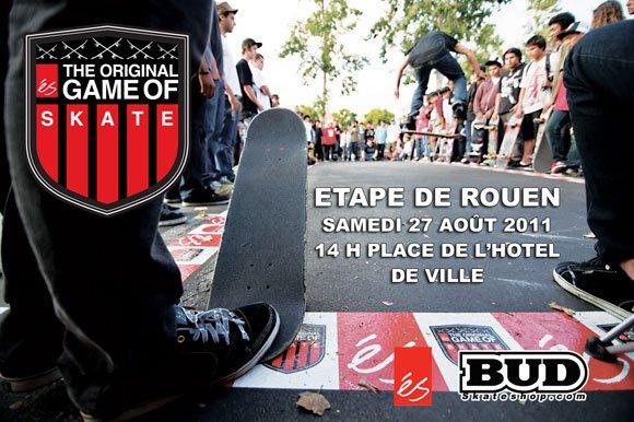 éS Game Of Skate Hôtel De Ville Rouen samedi 27 août 2011