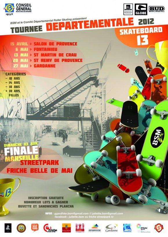 BSM Tournée Départementale Skateboard 13 Bouches-Du-Rhône avril à juin 2012