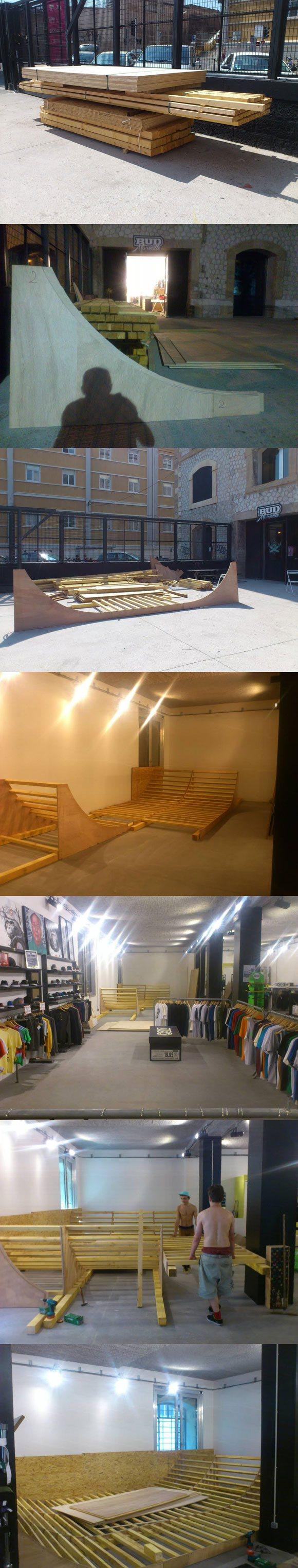 travaux mini rampe BUD SKATESHOP Marseille