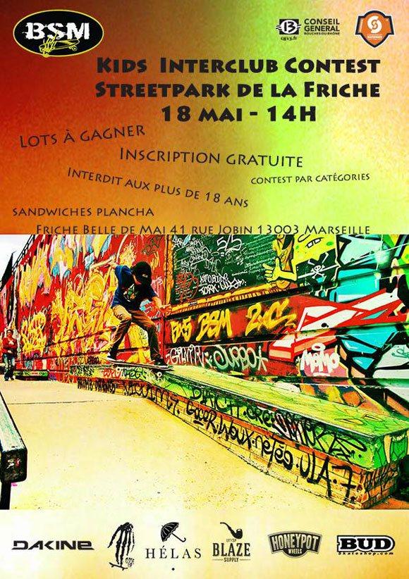BSM Kids Interclub Contest au Streetpark De La Friche à Marseille dimanche 18 mai 2014