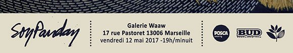 Soy Panday vernissage galerie Waaw Marseille vendredi 12 mai 2017