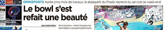 Vidéo et article 20 Minutes Le Bowl Du Prado À Marseille S'est Refait Une Beauté