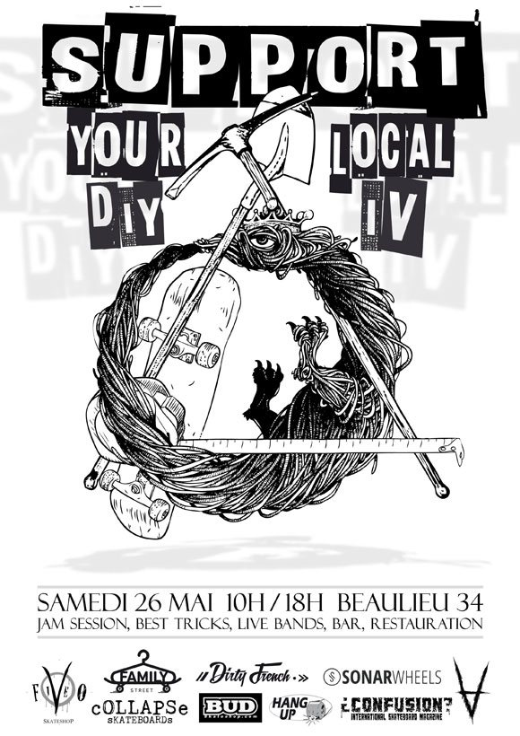 Support Your Local DIY IV Beaulieu (34) samedi 26 mai 2018