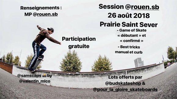 @rouen.sb (Rouen Am Street Skateboarding) Session Prairie Saint Sever dimanche 26 août 2018