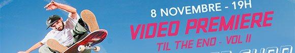 SANTA CRUZ SKATEBOARDS avant-première vidéo Til The End Vol II BUD SKATESHOP Marseille Rouen Caen Carcassonne Montpellier jeudi 8 novembre 2018 19H
