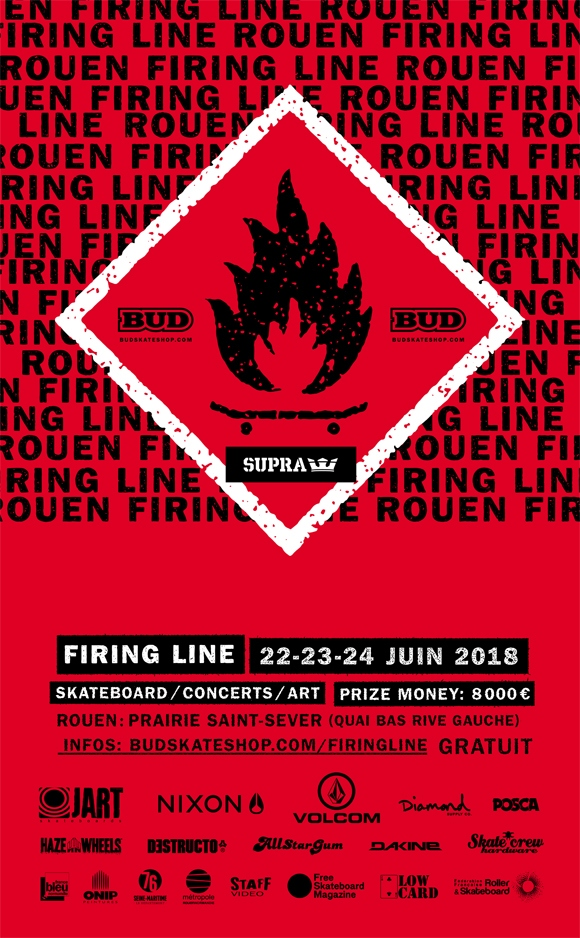 Rouen Firing Line international skateboard contest / concerts / art, 22-23-24 juin 2018