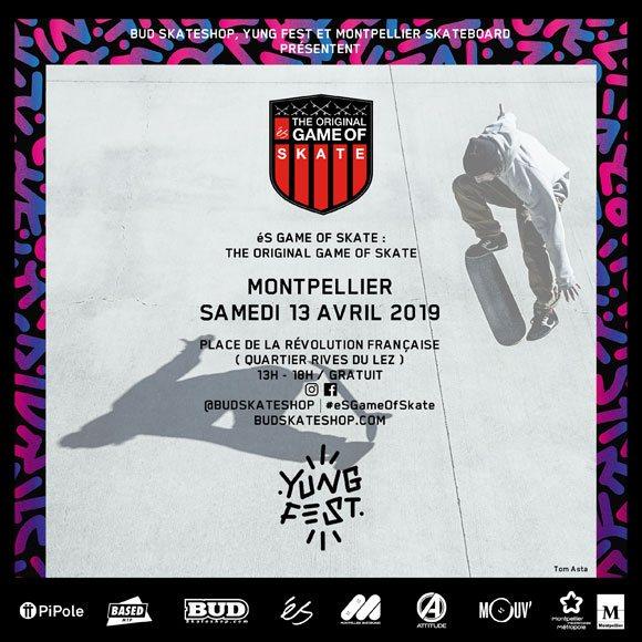 éS SKATEBOARDING Original Game Of SKATE Place De La Révolution Française Montpellier samedi 13 avril 2019