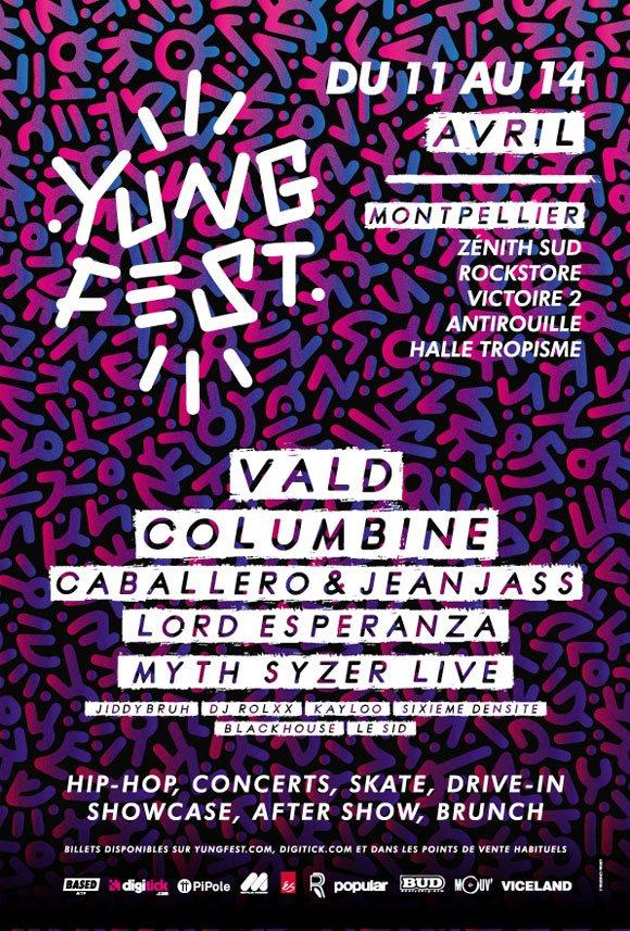 Yung Fest festival Montpellier du 11 au 14 avril 2019