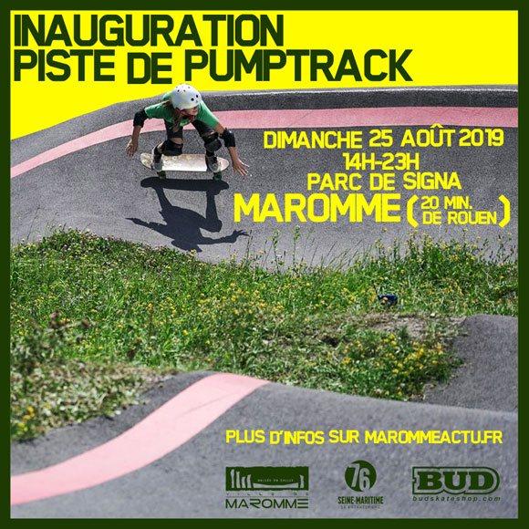 Inauguration piste de pumptrack Maromme (20 minutes de Rouen) dimanche 25 août 2019 14H-23H