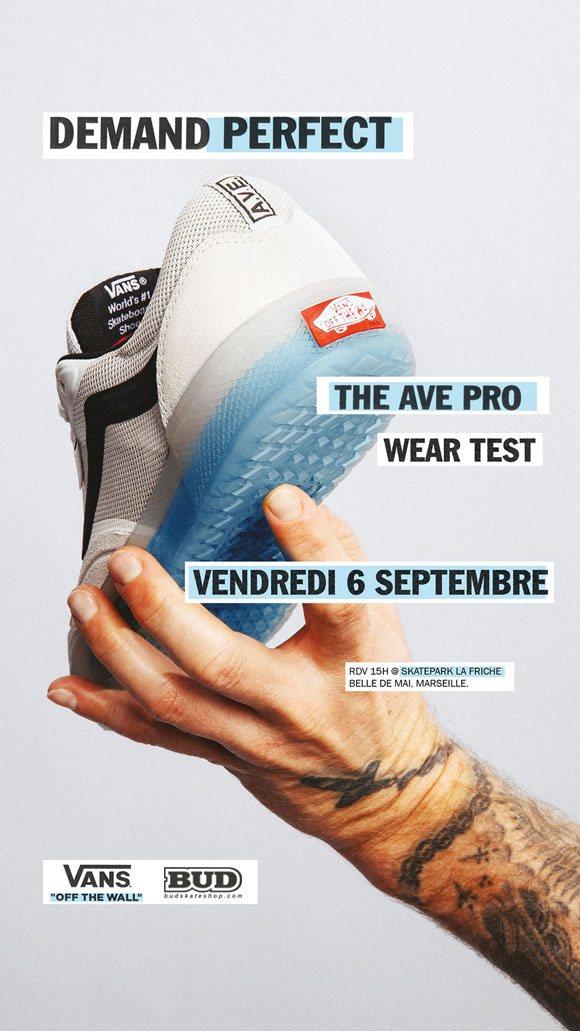 vans the ave pro wear test skatepark de la friche belle de