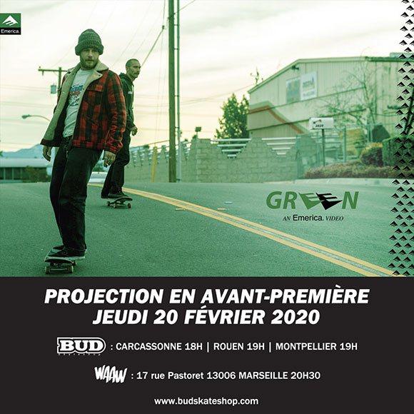 EMERICA Vidéo avant-première vidéo Green Marseille Rouen Montpellier Carcassonne jeudi 20 février 2020