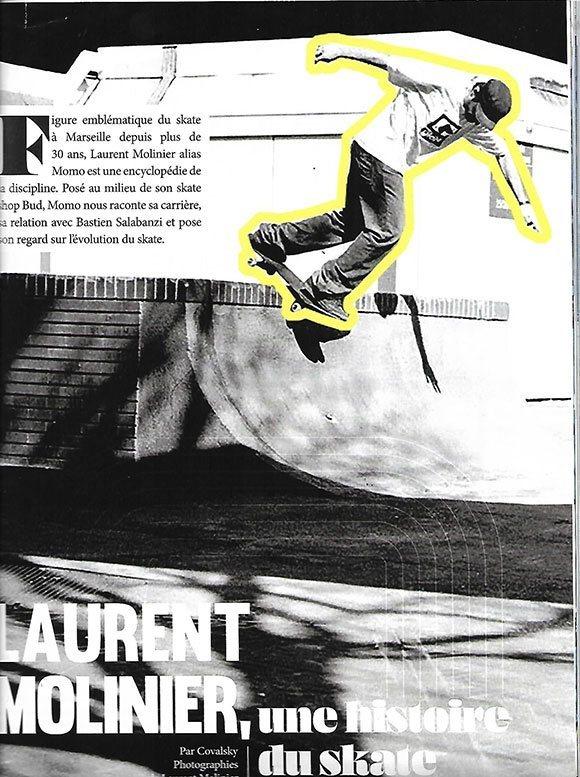 Laurent Momo Molinier paru interview Une Histoire Du Skate Marseillais Riding Zone Magazine #02 septembre octobre 2021