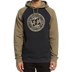 dc sweatshirt hood circle star (burnt olive/black)