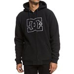 dc sweatshirt hooded zip new star sherpa (black)