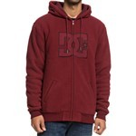 dc sweatshirt hooded zip new star sherpa (cabernet)