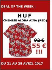huf shirt short sleeves aloha aina (red)