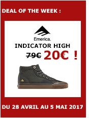 emerica shoes indicator high (dark grey/black/gum)