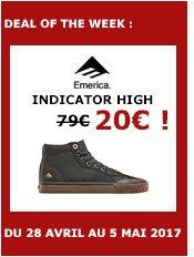 emerica shoes indicator high (dark grey/black/gum)