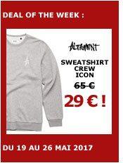 altamont sweatshirt crew icon (grey/white)