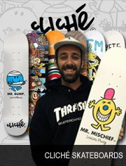 clich� skateboards