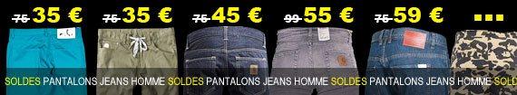 soldes pantalons jeans homme du moins cher au plus cher