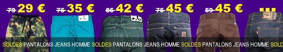 pantalons, jeans homme du moins au plus cher