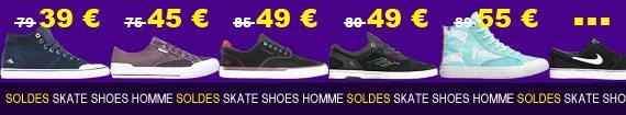 skate shoes homme du moins au plus cher