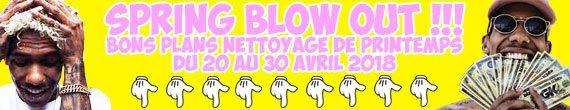 spring blow out bons plans nettoyage de printemps
