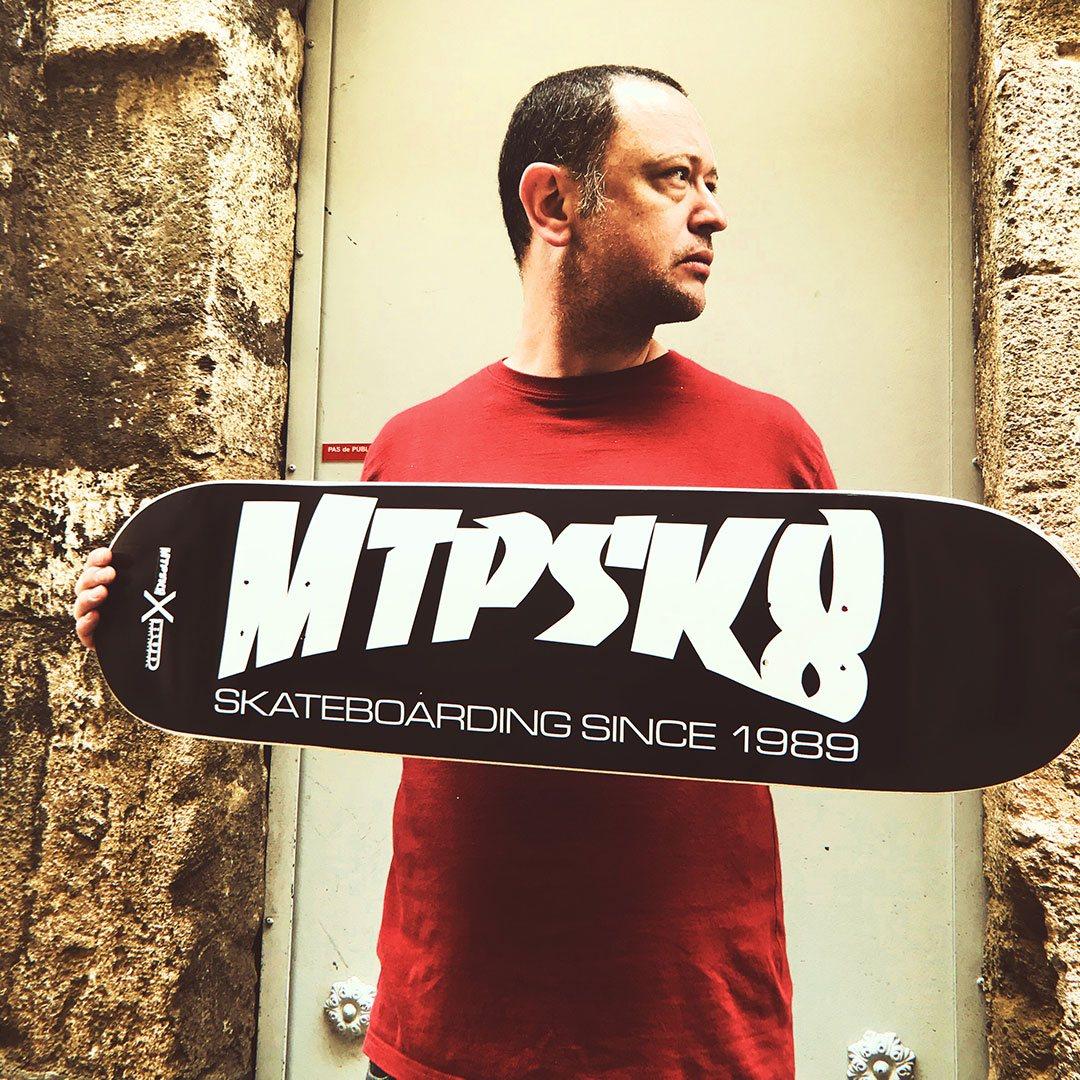 mtp skateboard x bud skateshop