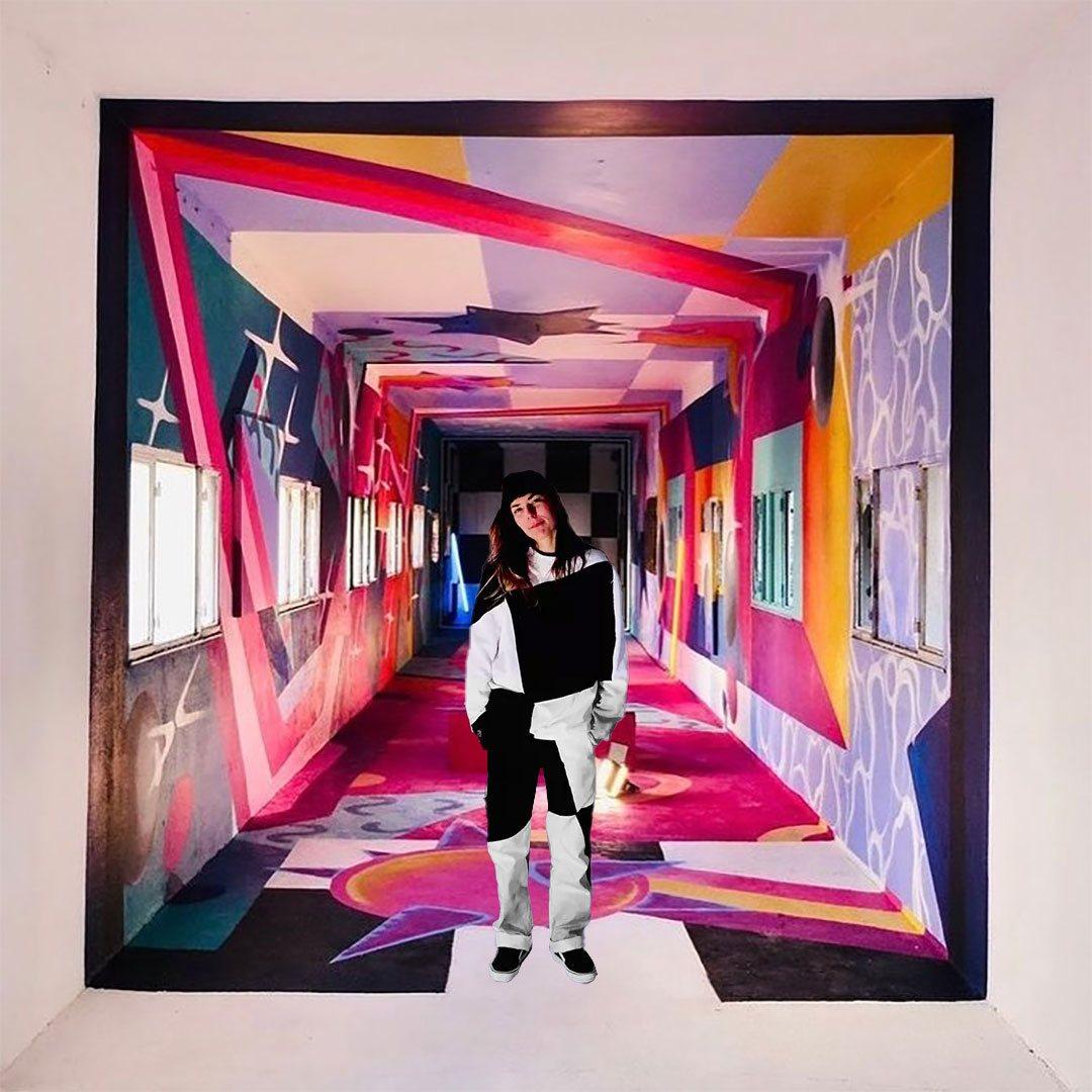vans x chloé bernard 3d mural