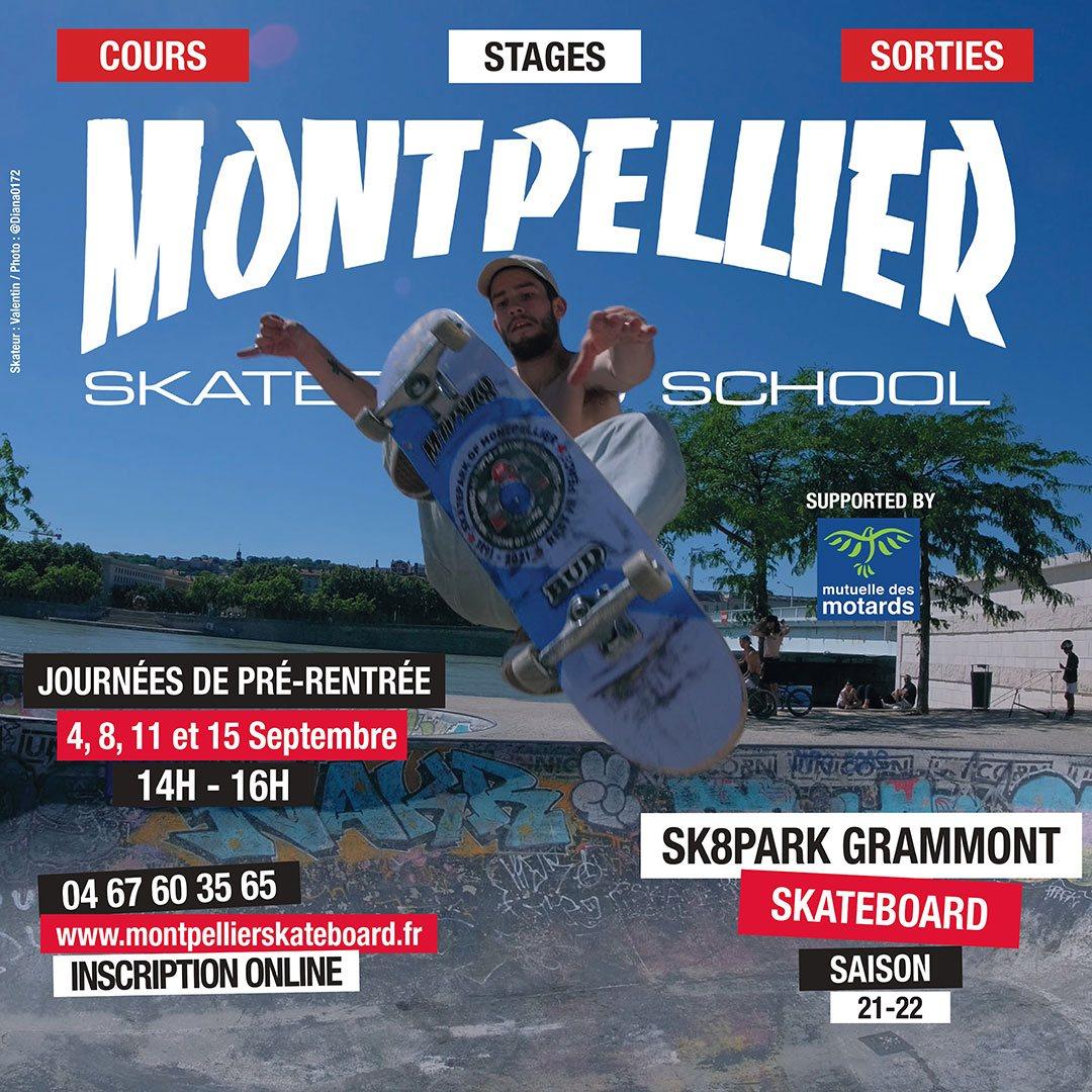 école de skate montpellier