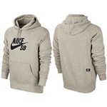 nike sb sweatshirt hood icon (oatmeal heather/black)