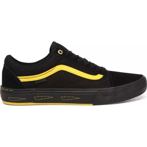 vans shoes old skool pro bmx (blackyellow) larry edgar