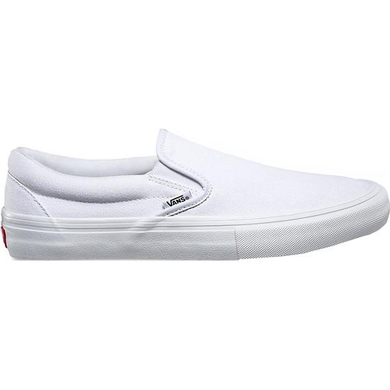 vans shoes slip on pro (whitewhite) | achat skate, shoes